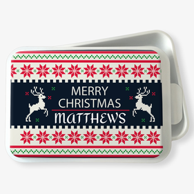 Custom Standard Merry Christmas Cake Pan