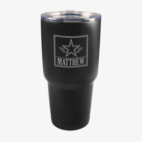 Custom Star Matte Vacuum Insulated Tumbler w/Clear Lid