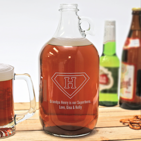 Custom Superhero Beer Growler