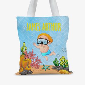 Custom Under The Sea Kids Tote Bag