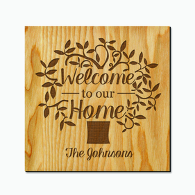 Custom Welcome To Our Home Decor Wood Art