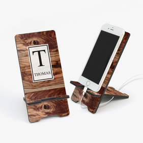 Personalized Cell Phone Stand and Desk Organizer Monogram Online
