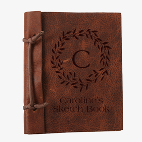Custom Wreath Authentic Leather Journal