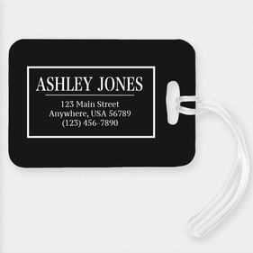 Customized Black Luggage Tag
