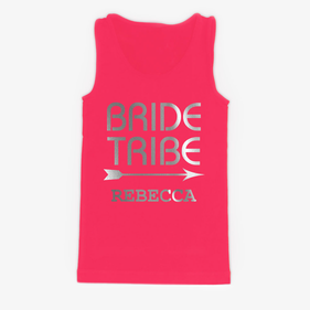 Customized Bride Tribe Women's Jersey Tank Top