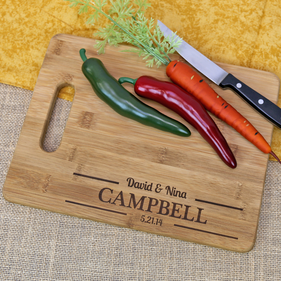 Customized Couples Cutting Board