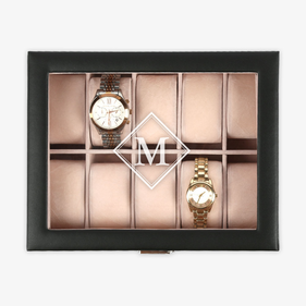 Customized Diamond Initial Watch Case