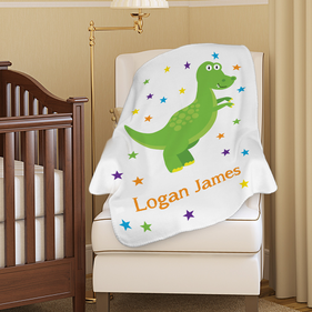 Customized Dinosaur Plush Baby Blanket