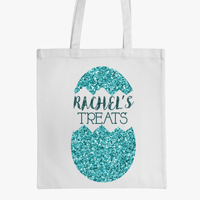 Customized Easter Egg Tote Bag