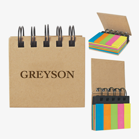 Customized Eco Sticky Notes-N-Flags Spiral Book