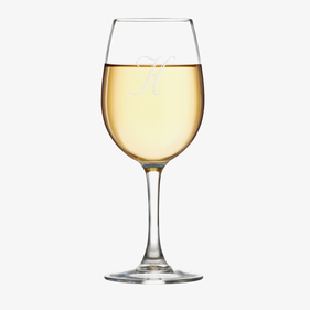 Exclusive Sale - Customized Initial Arc Cachet White Wine Glass