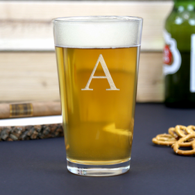 Customized Initial Beer Pint Glass