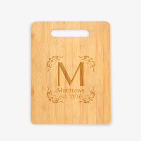 Customized Initial Wooden Cutting Board