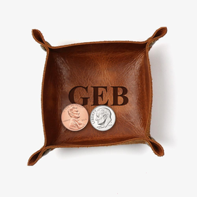 Flash Sale - Customized Initials Genuine Leather Mini Catchall