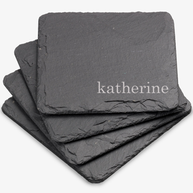 Customized Katherine Square Slate Coasters