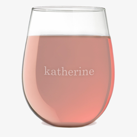 Customized Katherine Stemless Wine Glass