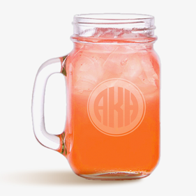 Customized Monogram Mason Jar