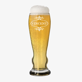 Customized Pilsner Beer Glass
