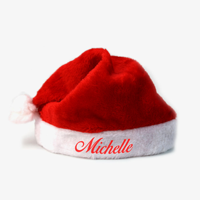 Customized Plush Christmas Santa Hat