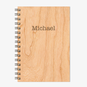 Customized Wire Bound Wood Notebook