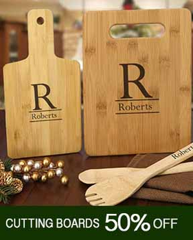 Cutting Boards - use code CUT-50 for 50% Off