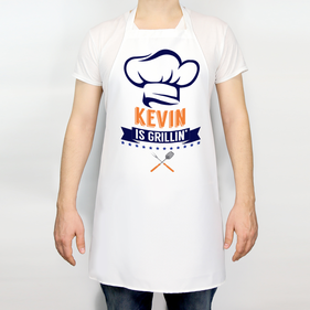 Daddy Is Grilling Personalized Adult Apron