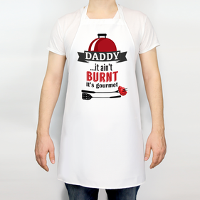 Exclusive Sale - Daddy...It Ain't Burnt It's Gourmet Personalized Adult Apron