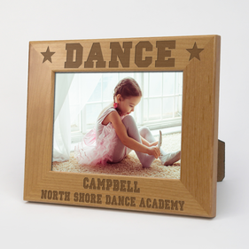 Dance Personalized Wood Picture Frame