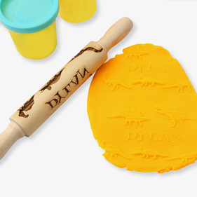 Dinosaurs Personalized Mini Wooden Rolling Pin