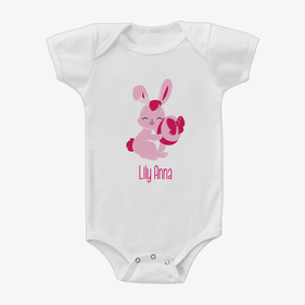 Easter Bunny Custom Baby One-Piece Bodysuit