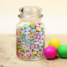 Easter Candy Personalized Glass Jar