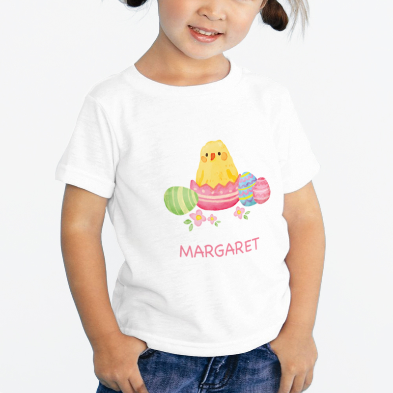 Personalized kids easter chick kids t shirt shop now for Custom kids t shirts