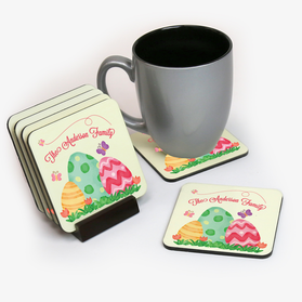 Easter Egg Family Personalized Coasters