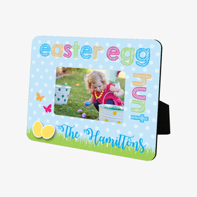 Easter Egg Hunt Personalized Hardboard Picture Frame