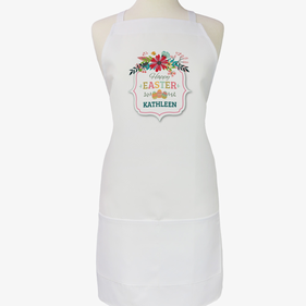Easter Eggs Personalized Adult Apron