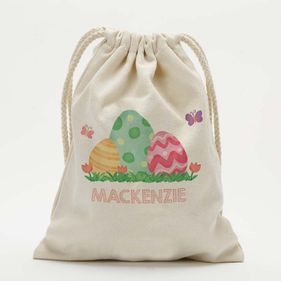 Easter Eggs Personalized Kids Drawstring Sack