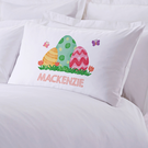 Easter Eggs Personalized Kids Pillowcase