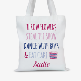 Eat Cake Personalized Tote Bag