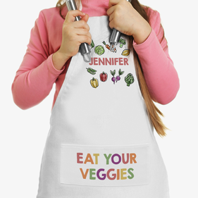 Eat Your Veggies Personalized Kids Apron