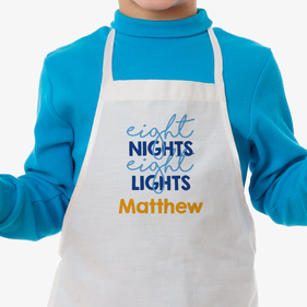 Eight Nights Eight Lights Custom Kids Apron