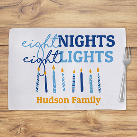 Eight Nights Eight Lights Personalized Placemat