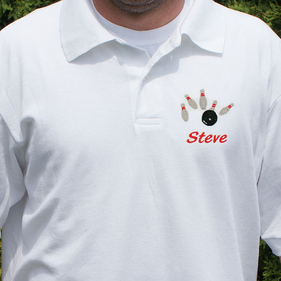 Embroidered Bowling Polo Shirt