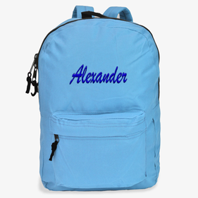 Embroidered Script Name Backpack