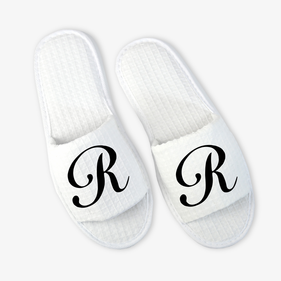 Exclusive Sale - Single Initial Waffle Slippers