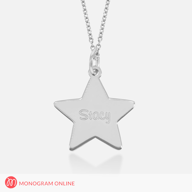 Engraved star pendant in silver sterling silver engraved star pendant in silver aloadofball Gallery