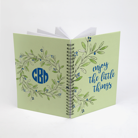 Enjoy The Little Things Custom Spiral Notebook