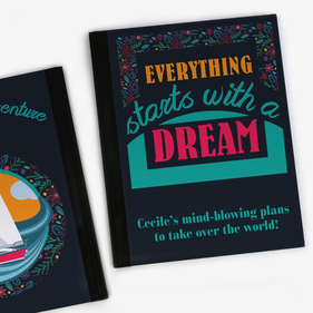 Everything Starts With A Dream Personalized Notebook