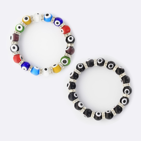 Evil Eye Murano Stretch Bracelet