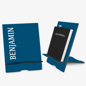 Exclusive Sale - Blue Personalized Book and Ipad Stand