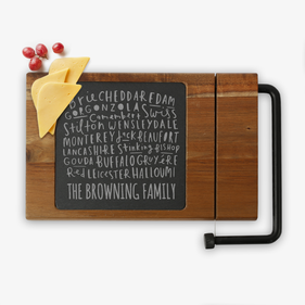 Exclusive Sale - Family Custom Acacia Wood Cheese Board